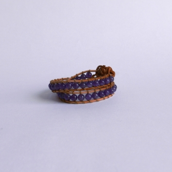 2in1 Boho Ametista - pulseira