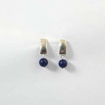 Brinco de Prata Lapis Lázuli