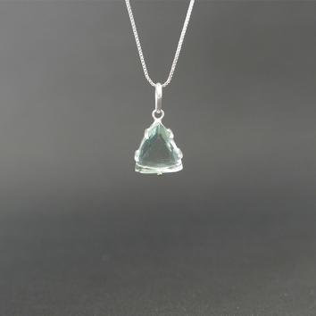 Colar Obsidiana Verde em Prata